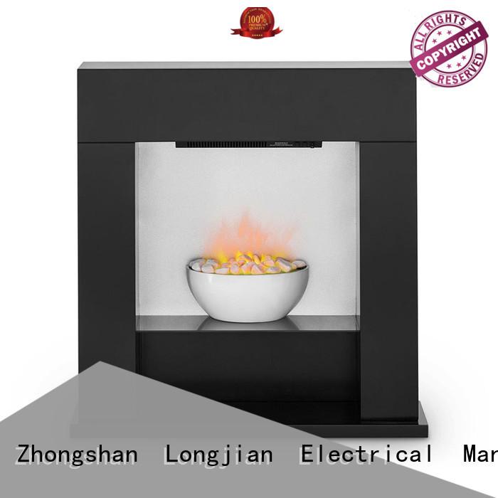 Longjian reasonable freestanding electric fire suite China for attic