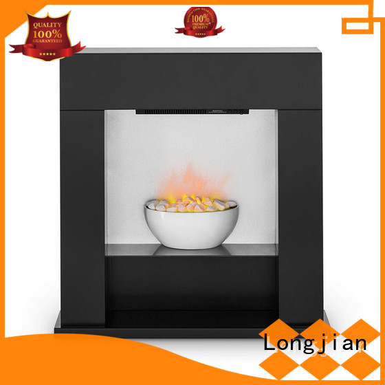 Longjian elegant electric fireplace suites freestanding in-green for manager room