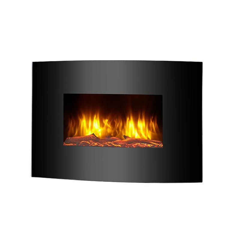 Luxury Wall Mounted Safety Thermal Cut Off LED Flame Electric Fireplace