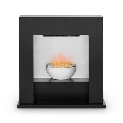 Cheap Freestanding Corner Beautiful Pebble Stone Electric Fireplace Heater