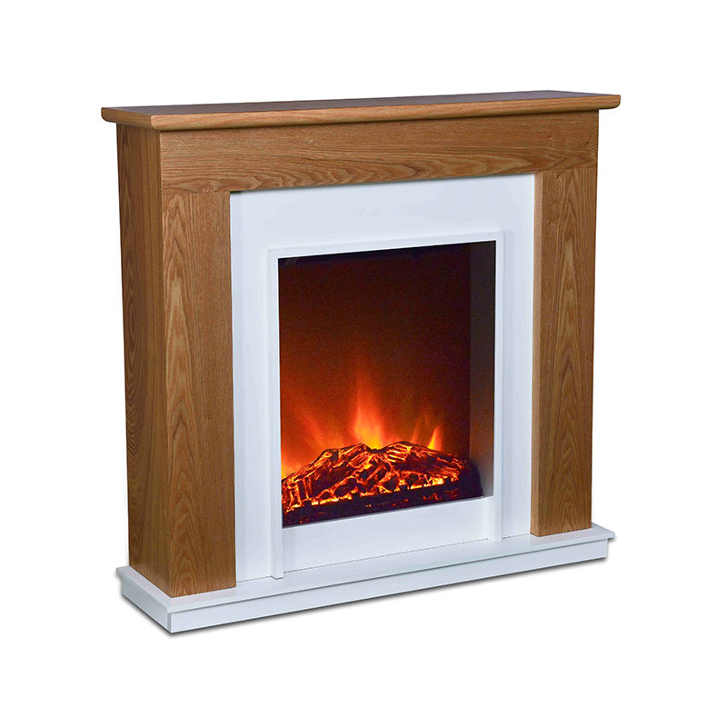 Longjian simple-style freestanding electric fire suite for-sale for balcony-2