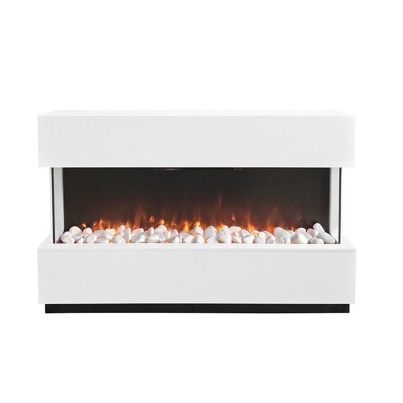 New Style High Efficiency Freestanding Wooden Panel Decorative Electric Fireplaces Heater