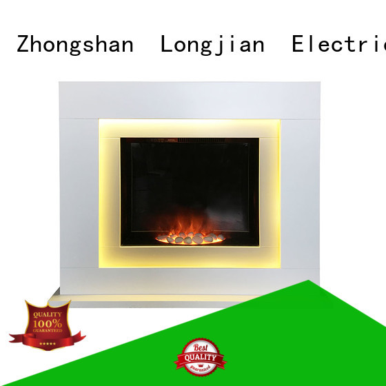 Longjian heater electric fireplace suites freestanding in-green for cellar