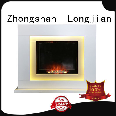 Longjian led electric fireplace suites freestanding for-sale for manager room