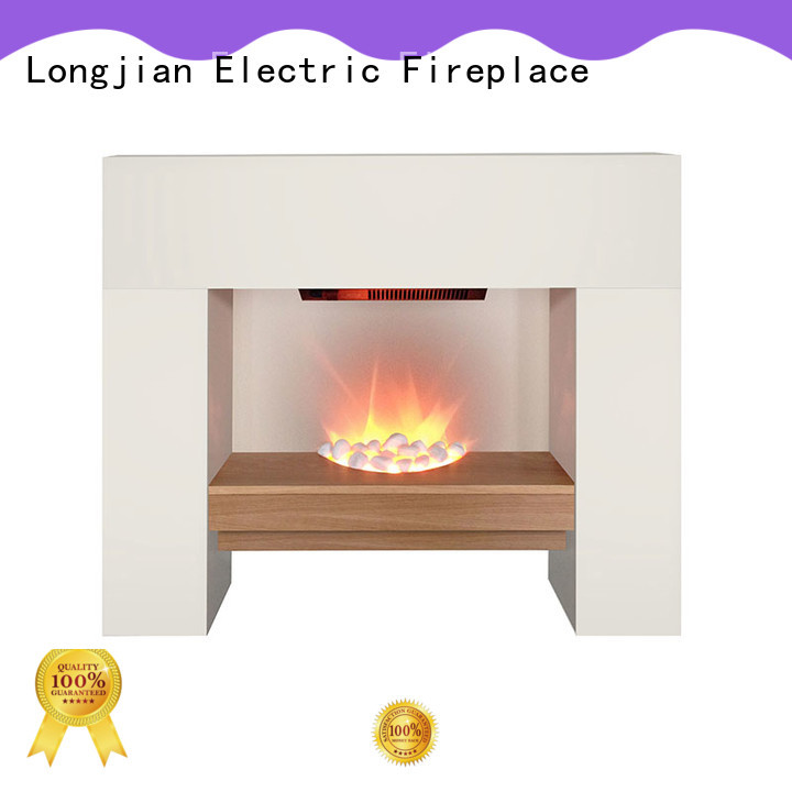 Longjian surround fireplace suites led-lamp for hall
