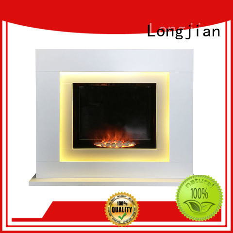 Longjian simple-style electric fireplace suites sensing for bathroom