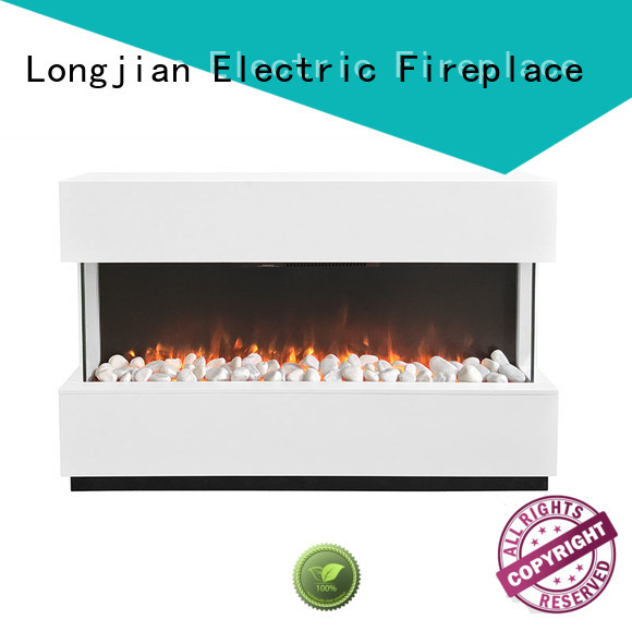 Longjian fireplaces fire suites for-sale for hall way