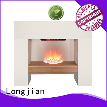 Longjian led electric fireplace suites in-green for attic