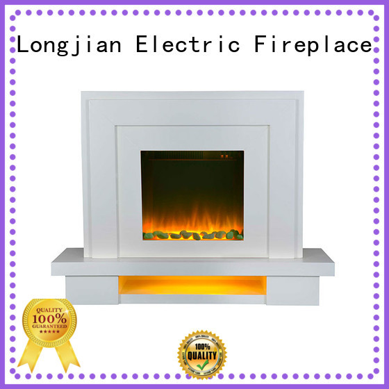 design electric fireplace suites for-sale for hall way Longjian