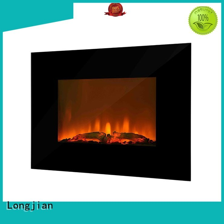modern wall mount electric fireplace production for bathroom Longjian
