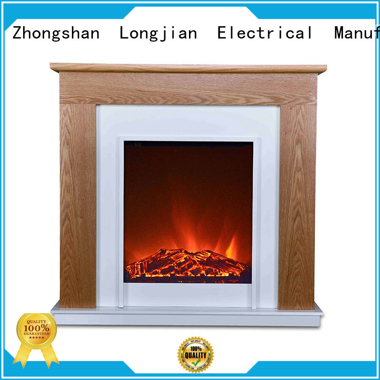 Longjian efficiency fireplace suites for-sale for hall way