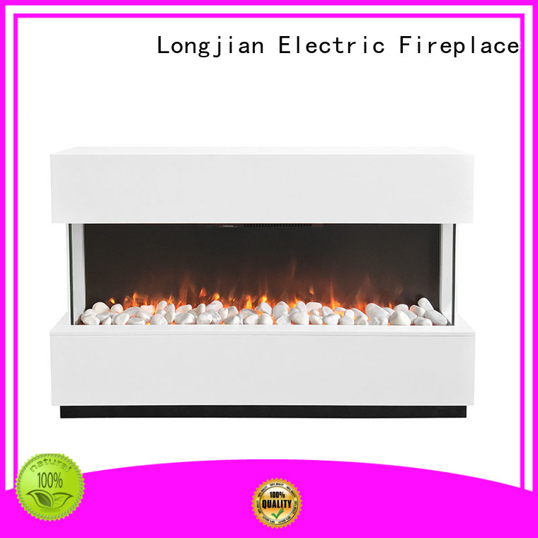 Longjian effect electric fire suites in-green for hall