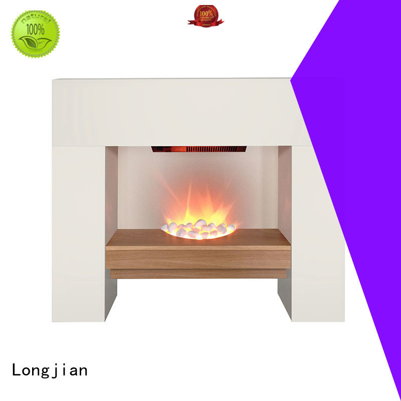 Indoor Contemporary Standing MDF Surround Style Elegant Decorative Electric Fireplace