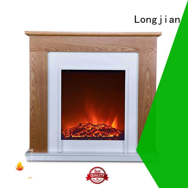 Longjian wooden electric fire suites effectively for garden