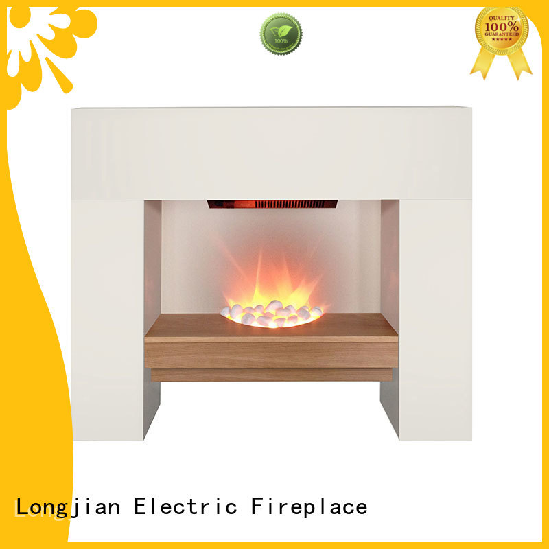 Longjian inexpensive electric fireplace suites freestanding sensing for study