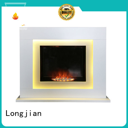 Longjian mdf electric fireplace suites freestanding in-green for study