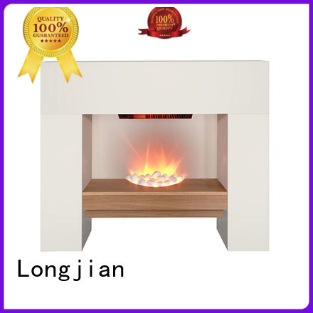Longjian first-rate modern electric fireplace suites electric for garden