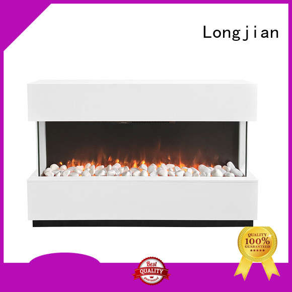 Longjian customized electric stove fireplace suite decorative for hall