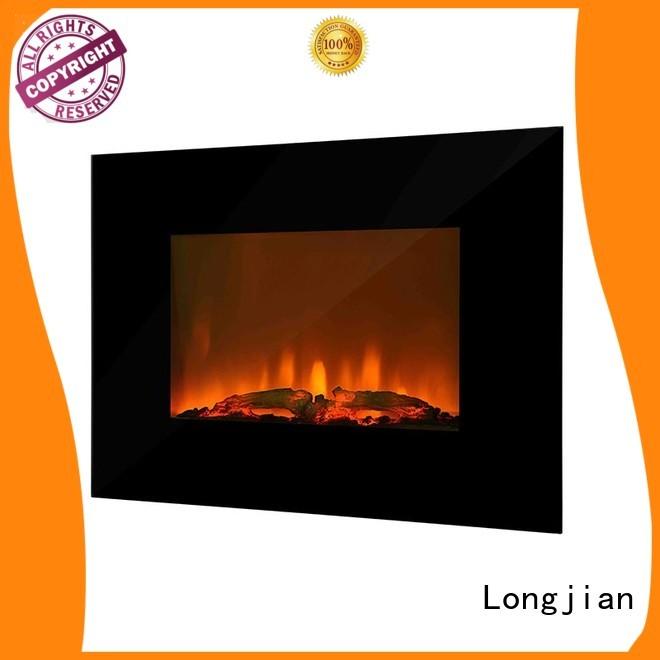 Longjian european wall mount electric fireplace production for bathroom