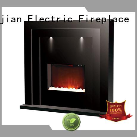 Longjian reasonable electric fireplace suites freestanding Application for bathroom