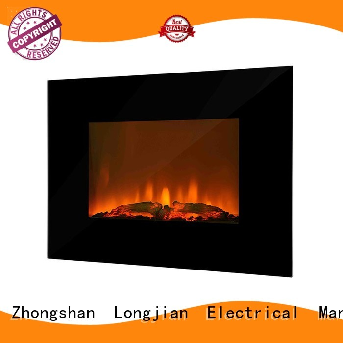 Longjian nordic modern electric fires wall mounted type for rooftop