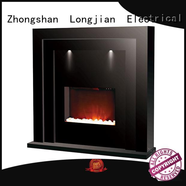 Longjian elegant electric fire suites package for balcony