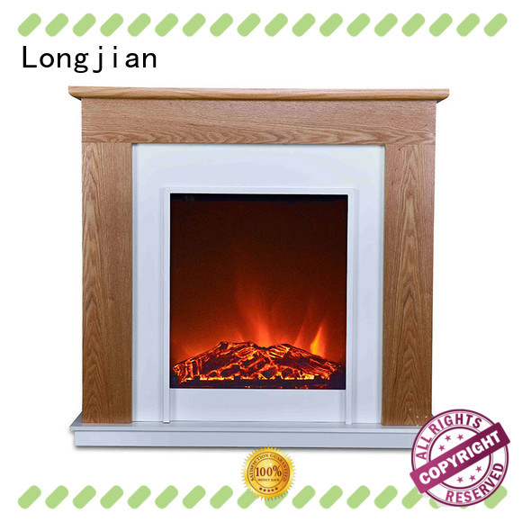 Longjian reasonable freestanding electric fire suite sensing for manager room