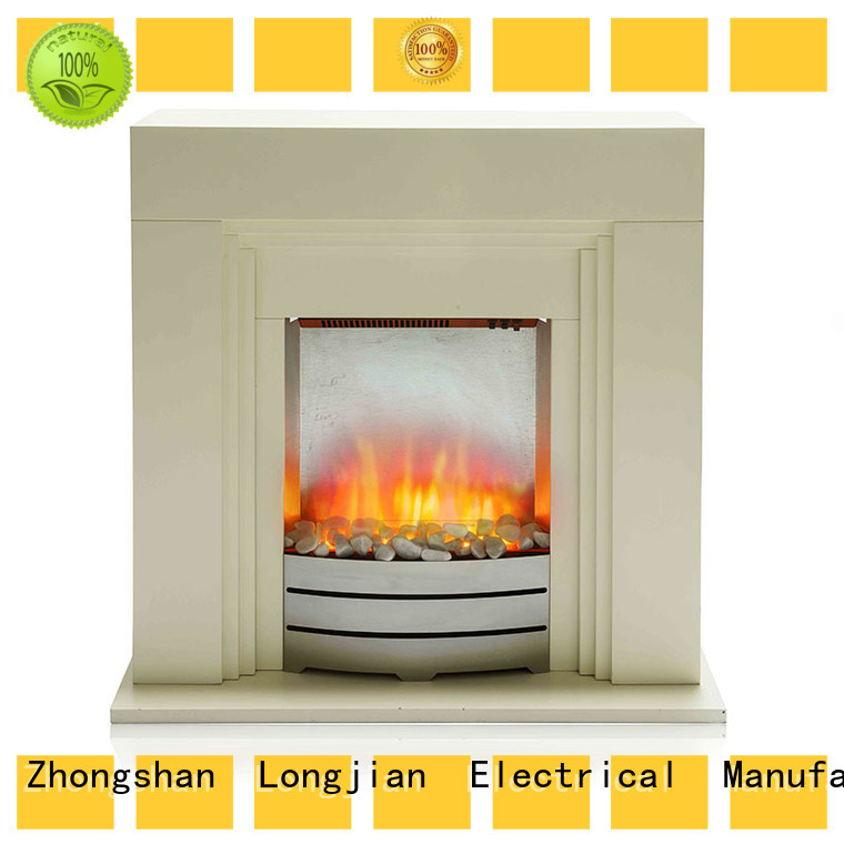 Roman Style Newest Decor Indoor Freestanding Lvory Color Electric Fireplace With Mantel