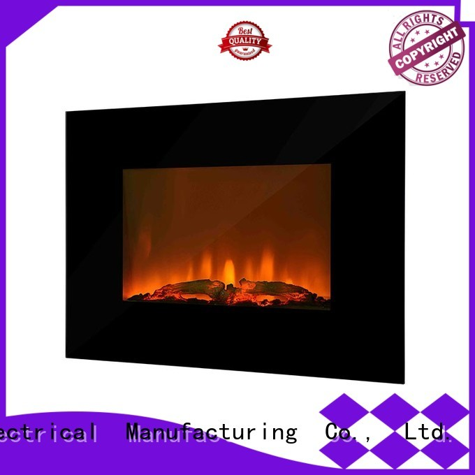 Longjian pebble wall mounted fireplace type for balcony