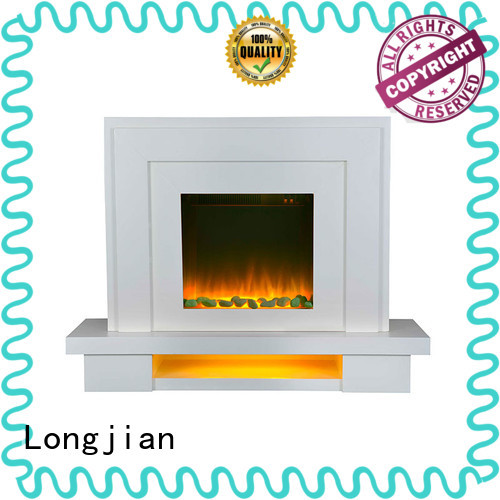 simple-style freestanding electric fire suite large package for hall