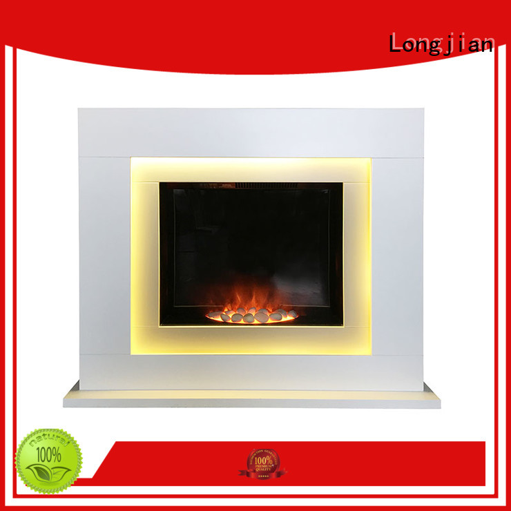 Longjian first-rate electric fireplace suites freestanding sensing for bathroom