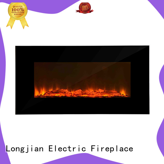 Longjian unique wall mount electric fireplace heater widely-use for bedroom