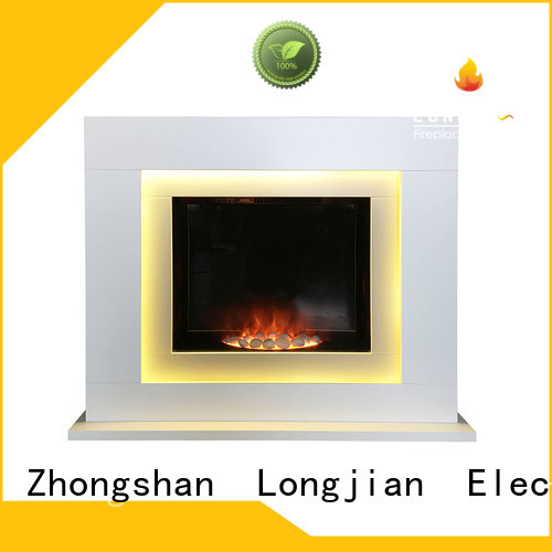 Longjian style electric fireplace suites effectively for hall way