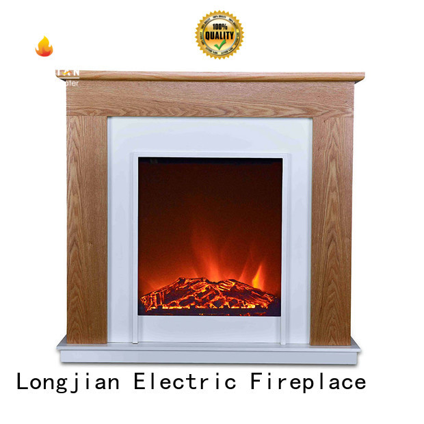 Longjian cabinet Electric Fireplace Suites in-green for attic