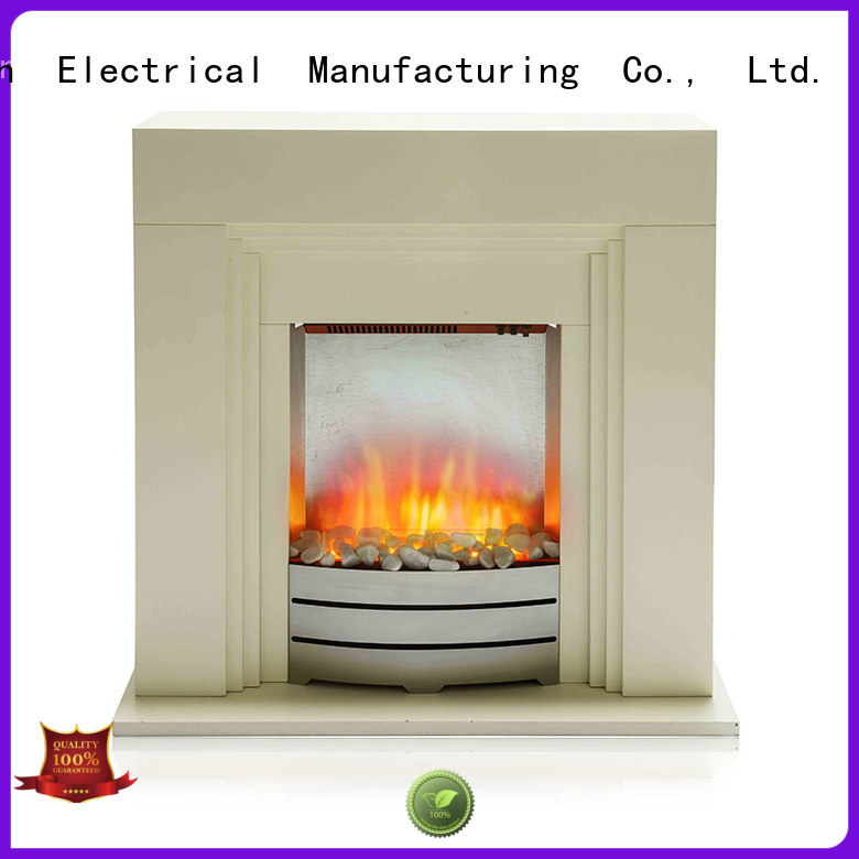 Longjian good-package freestanding electric fire suite in-green for cellar