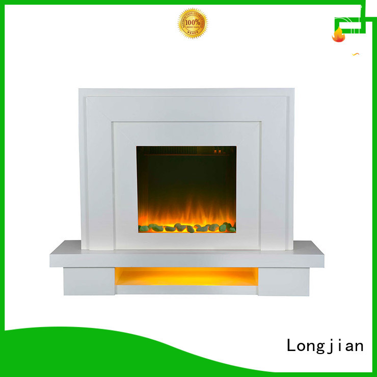 customized Electric Fireplace Suites lvory in-green for study