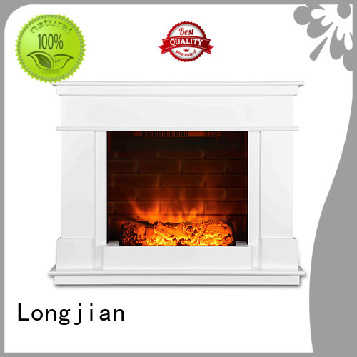 artificial Electric Fireplace Suites in-green for hall way Longjian