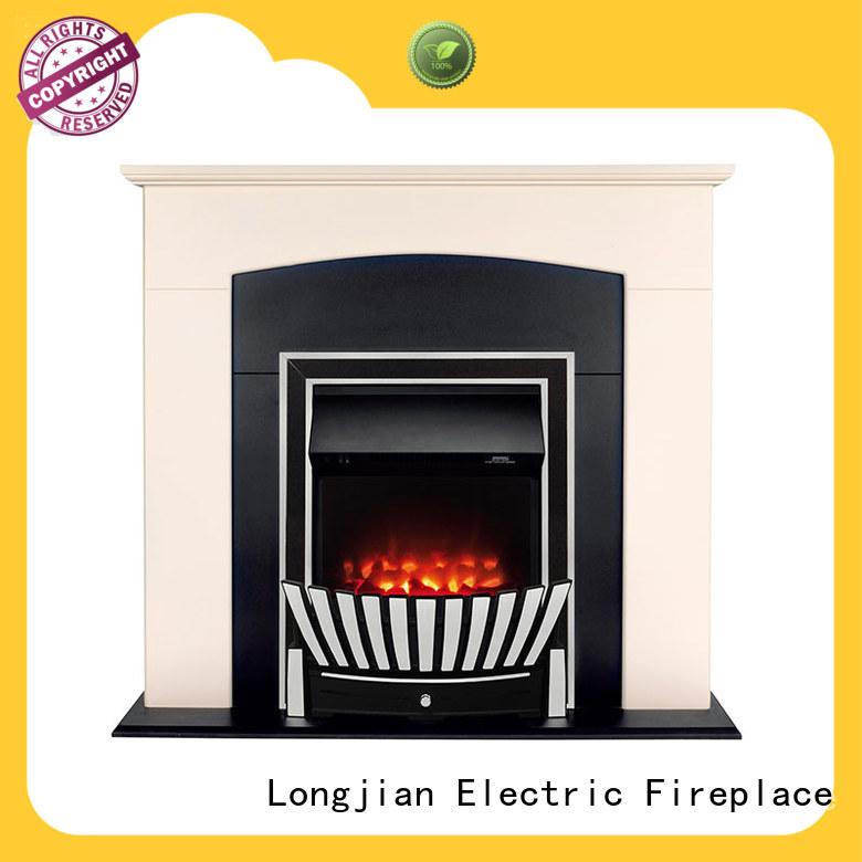effect insert electric fireplace effectively for bathroom Longjian