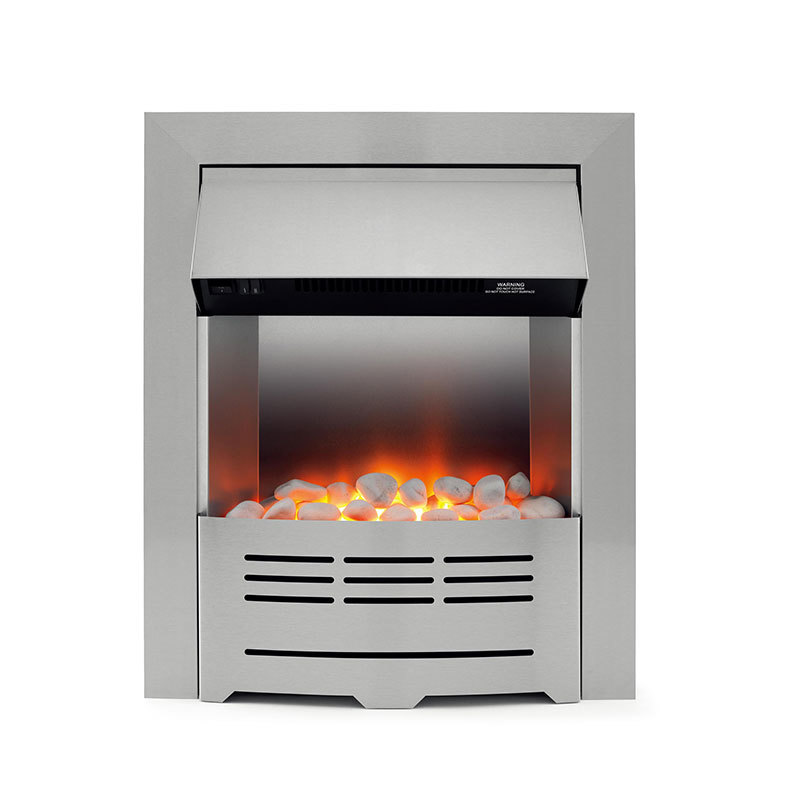 2KW Temperature LED Display Inset Modern Electric Fireplace With Remote Control