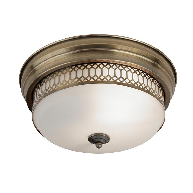 "Diameter φ350mm 14"" 2 lights Ceiling Flush mount ip44 with Glass shade  C0009-2"