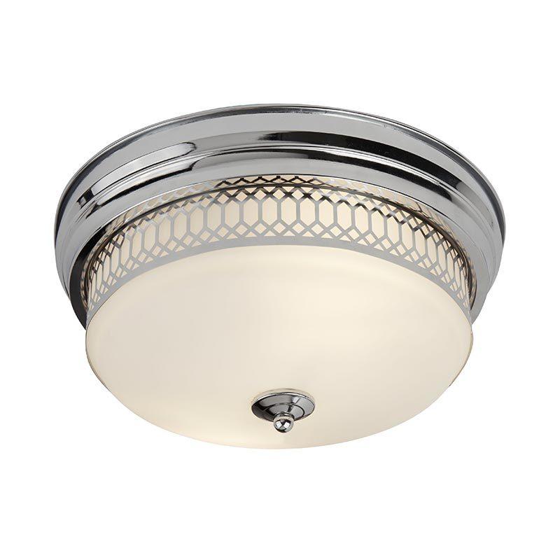 "Diameter φ350mm 14"" 2 lights Ceiling Flush mount ip44 with Glass shade  C0009-2"