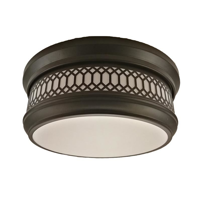 "300mm 12"" 2 light Ceiling Flush mount ip44 with White acrylic shade  C0010-2"
