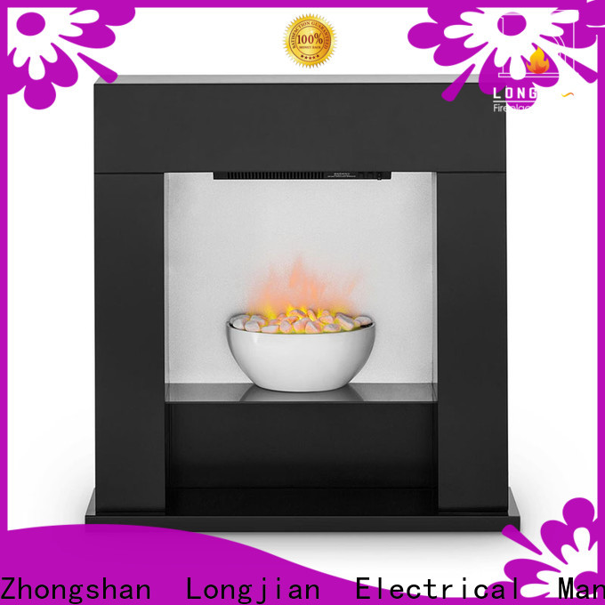 Longjian cabinet Electric Fireplace Suites led-lamp for bathroom