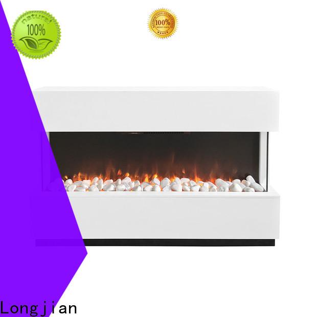 Longjian ljsf4004me freestanding electric fire suite led-lamp for bathroom