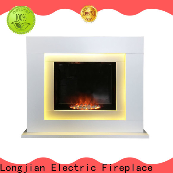 simple-style Electric Fireplace Suites pebble for-sale for garden