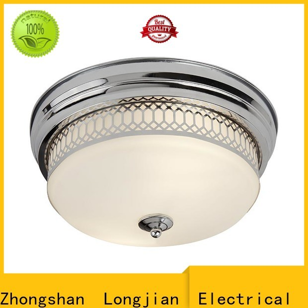 Longjian white semi flush mount lighting in-green for rooftop