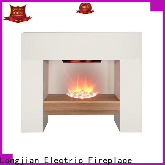 Longjian customized electric fireplace suites long-term-use for garden