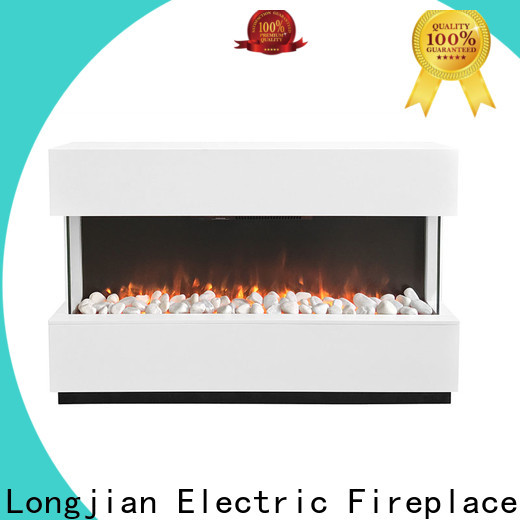 Longjian distinguished freestanding electric fire suite Application for balcony