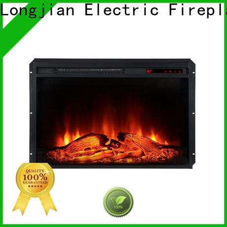 Longjian nordic inset electric fires sensing for garden