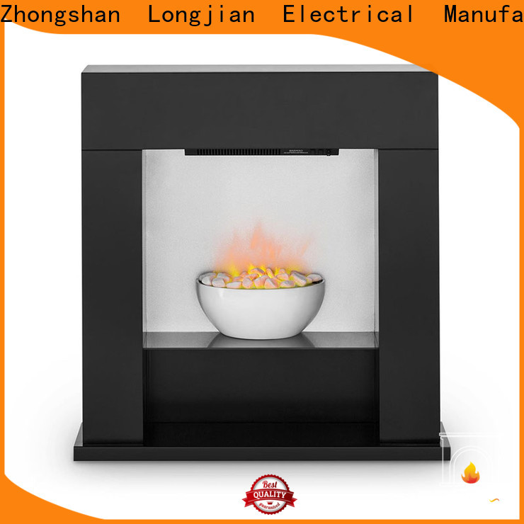 Longjian wooden electric stove fire suites for-sale for balcony